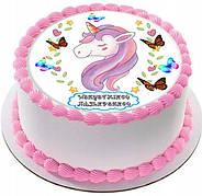 """Вафельные картинки на детский торт и капкейки на торт в стиле """"Единорог"""""""