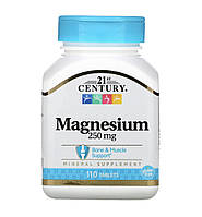 21st Century Магній 250 мг, 110 таблеток
