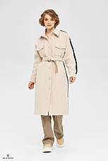 Пальто-сорочка стильне жіноче демісезонне круте і яскраве розміри: 42-48, фото 2