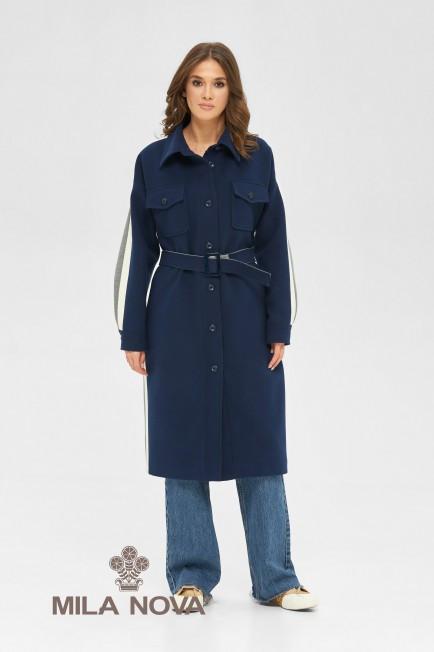 Пальто-сорочка стильне жіноче демісезонне круте і яскраве розміри: 42-48