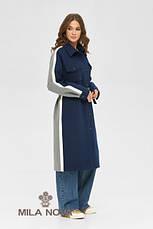 Пальто-сорочка стильне жіноче демісезонне круте і яскраве розміри: 42-48, фото 3
