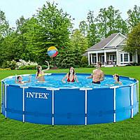 Каркасный бассейн Intex 28242, 457 x 122 см (Фильтр насос 3 785 л/ч, лестница, тент, подстилка)