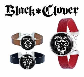 """Браслет круглый Черный Клевер """"Logo"""" / Black Clover"""
