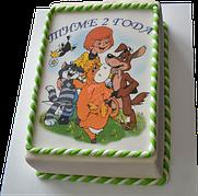 """Вафельные картинки на детский торт и капкейки на День Рождения в Стиле """"Простоквашино"""""""