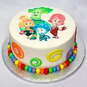 """Вафельные картинки на детский торт и капкейки на День Рождения в Стиле """"Фиксики"""""""