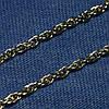 Срібний ланцюжок з чорнінням плетіння Мотузка 40 см C-012