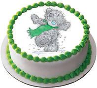 """Вафельные картинки на детский торт и капкейки на День Рождения в Стиле """"Мишка Тедди"""""""