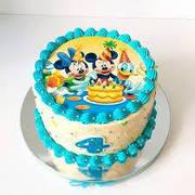 """Вафельные картинки на детский торт и капкейки на День Рождения в Стиле """"Микки и Минни Маус"""""""