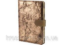 Блокнот из эко-кожи на магните, А5, 80 лист., блок - крем. бумага, линия
