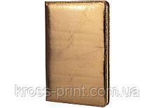 Блокнот PU блестящий, А5, 80 лист., блок - крем. бумага, линия