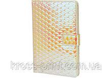 Блокнот PU на магните, А5, 80 лист., блок - крем. бумага, линия