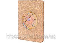 Блокнот с блестками и конфетти, А5, 80 лист., блок - крем. бумага, линия