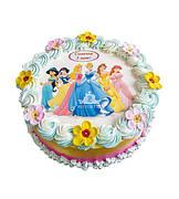 """Вафельные картинки на детский торт и капкейки на День Рождения в Стиле """"Принцессы Дисней"""""""