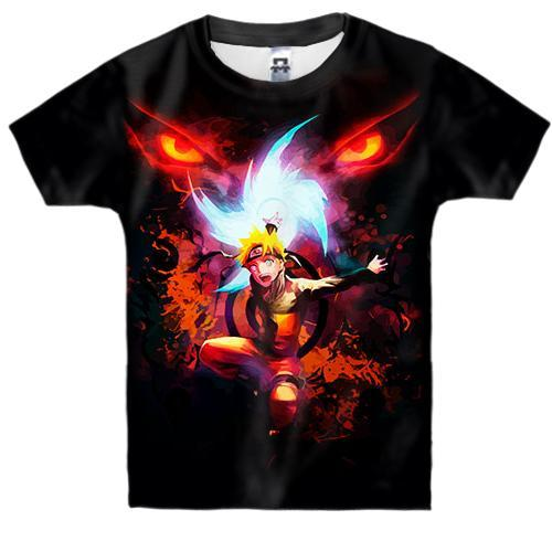 Детская 3D футболка Огненный Наруто