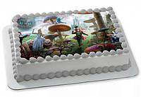 """Вафельные картинки на торт и кексы День Рождения в стиле """"Алиса в стране чудес"""""""