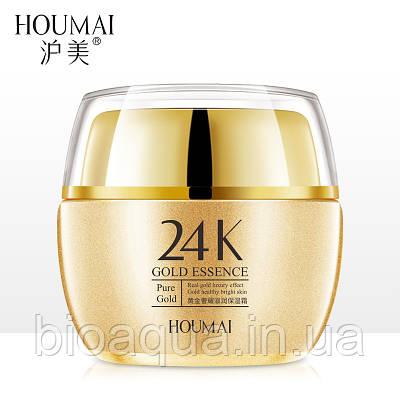 Крем для лица HOUMAI 24 K Gold с гиалуроновой кислотой и золотом 50 g