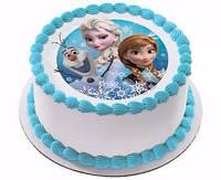 """Вафельные картинки на торт и кексы День Рождения в стиле """"Холодное сердце"""""""