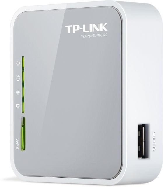 Беспроводной маршрутизатор TP-LINK TL-MR3020; (1*WAN/LAN, 1*USB, внутренняя антенна)