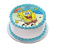 """Вафельные картинки на торт и кексы День Рождения в стиле """"Губка Боб"""""""