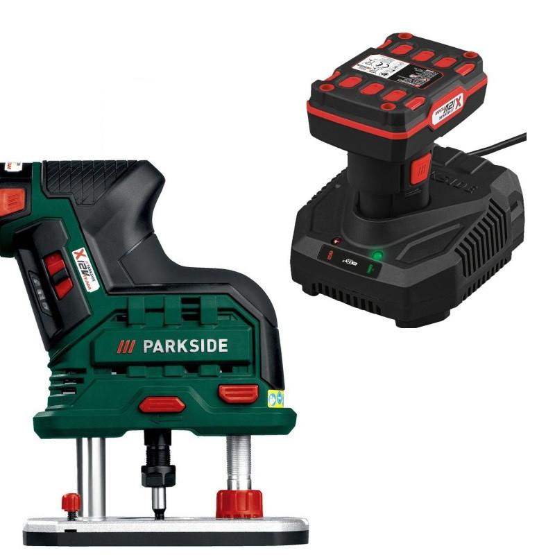 Аккумуляторный фрезер PARKSIDE POFA 12 A1+ Фрезы (АКБ 12 В 4 А/ч)