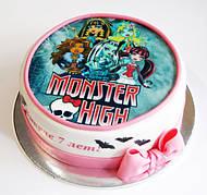 """Вафельные картинки на торт и кексы День Рождения в стиле """"Монстер Хай"""""""