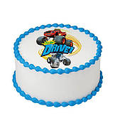 """Вафельные картинки на торт и кексы День Рождения в стиле """"Вспыш"""""""