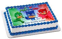 """Вафельные картинки на торт и кексы День Рождения в стиле """"Герои в масках"""""""