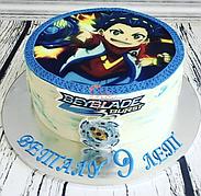 """Вафельные картинки на торт и кексы День Рождения в стиле """"Бейблейд"""""""