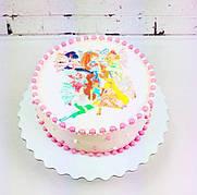 """Вафельные картинки на торт и кексы День Рождения в стиле """"Феи Винкс"""""""