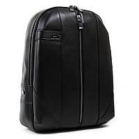 Большой мужской кожаный рюкзак BRETTON 30*39*15см (BE 9311-49 black)