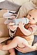 Скляна дитяча пляшечка з силіконовою захистом Everyday Baby 240 мл Колір світло-сірий, фото 5
