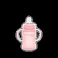 Скляний дитячий поїльник з силіконовою захистом Everyday Baby, 150 мл Колір рожевий, фото 2