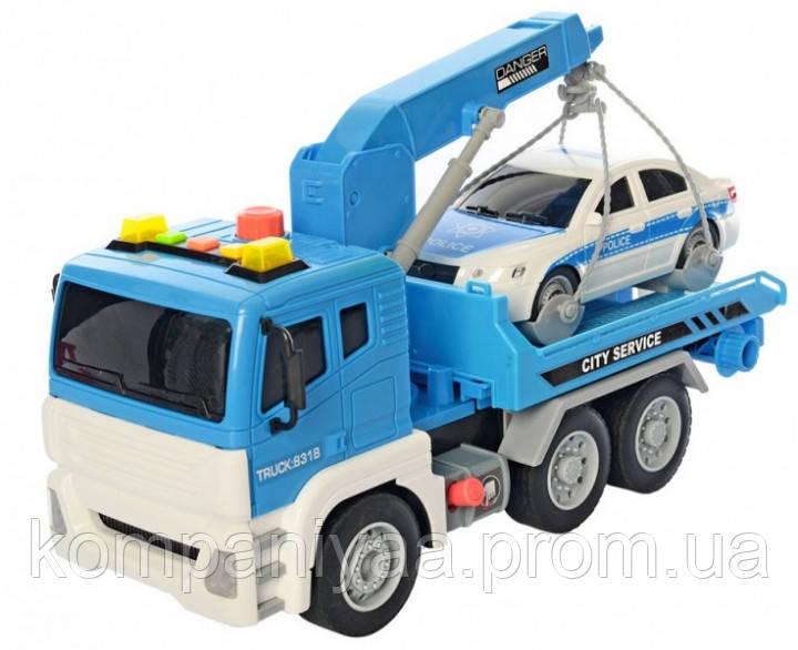 Машинка Евакуатор АвтоСвіт AS-2610 на батарейці - таблетці (Синій)