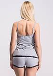 Майка + шорти П034 Сірий, фото 3