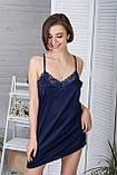 Нічна сорочка + халат MiaNaGreen К422н Синій, фото 4