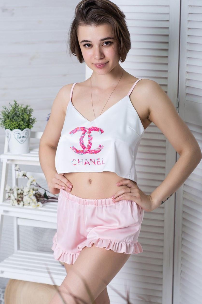Піжама річна топік + шорти П1-01 Шанель