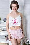 Піжама річна топік + шорти П1-01 Шанель, фото 2