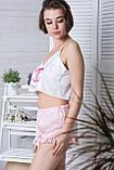 Піжама річна топік + шорти П1-01 Шанель, фото 3