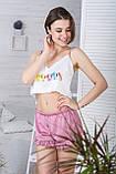 Молодіжна піжама топ + шорти П1-10 Макаруни, фото 2