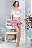 Молодіжна піжама топ + шорти П1-10 Макаруни, фото 3
