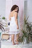 Нічна сорочка из шелка XXL Нб030 Білий, фото 2