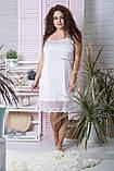 Нічна сорочка из шелка XXL Нб030 Білий, фото 3