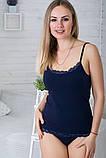 Комплект майка с трусиками КМ009 Синій, фото 4