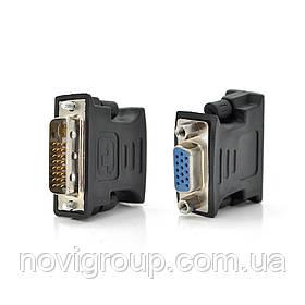 Перехідник VGA (мама) / DVI-I 24 + 5 (тато) Black Q50