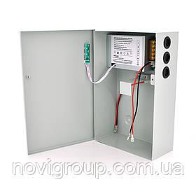 Імпульсний джерело безперебійного живлення PSU-5121 12V 5А, під АКБ 12V 7-9A або 18-20А, Metal Box