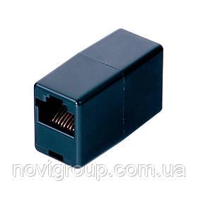 З'єднання єднувач RJ45 8P8C мамо / мама RJ45 для з'єднання єднання кабелю, чорний, Q100
