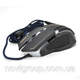 Миша дротова Apedra A9, 6 кнопок, 800/1200/2400/3200 DPI, Led Lighting, 1,3 м, Win7 / 8/10 Mac OS, Black,