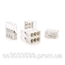 Самозажимна 3-дротова клема WAGO К773-203, 3-pin, прозоро-сіра