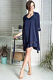 Комплект класичний шовковий К1091н Синій, фото 2