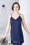 Комплект класичний шовковий К1091н Синій, фото 4